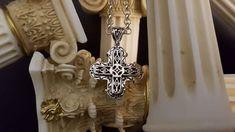Sterling Silver Cross Pendant, Handmade Sterling Silver, Sterling Silver Rings, Byzantine, Beautiful Rings, Design, Etsy, Pretty Rings, Sterling Silver Thumb Rings