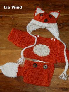 "Crochet Fox baby Costume ""Magic Rabit"" Disfraz de Zorro bebe a Crochet"