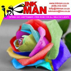 All walk-in clients will receive a Rose if you celebrate Spring day with INKman all day on Friday 4 September 2015.