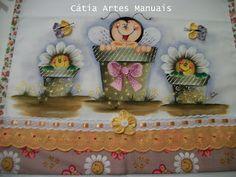 Catia Artes Manuais: PASSO A PASSO PINTURA ABELHA COUNTRY