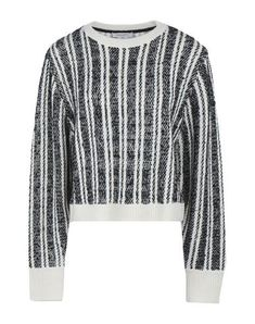 Public School Nabila Wool-blend Striped Sweater In Multicoloured White Sweaters, Cashmere Sweaters, Pullover, Cardigans For Women, Women's Cardigans, School Fashion, White Fabrics, Stripes Design, Public School