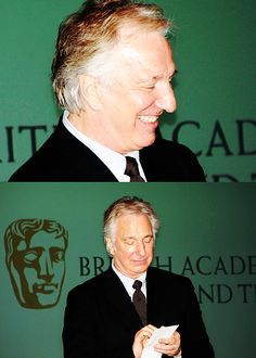 """February 7, 2011 -- """"An Evening With Alan Rickman"""" for BAFTA with Lisa Schwartzbaum of Entertainment Weekly, in New York, NY."""