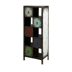 """Powell Parcel """"Cinnamon"""" 5-Drawer, 5-Cubby Chest #chests #storage"""