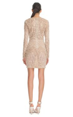 Vanilla Fully Embroidered Mini Dress by Elie Saab for Preorder on Moda Operandi