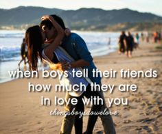 Yes.  His friends: hey r u dating him Me: yeah y His friends: cuz he said so at practice  Me In my head: awwwwww