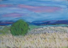 pastel painting by paul monska. view of prescott from brownlow trail.