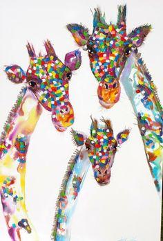 cute colour painting artist - tracey keller