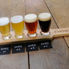 Personalized Beer Flight Set for the bar or the groom and bachelor party.