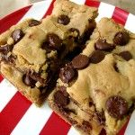 Peanut Butter Chocolate Chip Blonde Brownies
