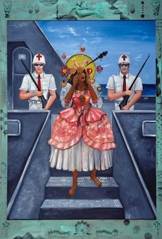 National Treasure: Haitian Art History and its Hidden Revolutionary Past Edouard Duval-Carrié, The World at Present, or Ezili Intercepted, Bass Museum of Art Black History, Art History, Erzulie Freda, African Name, Latin American Studies, Rebound Relationship, Haitian Art, Goddess Of Love, Recent Events