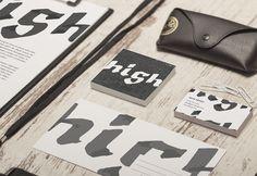 Koncept logo dla marki High Five. #design #branding #brand #logo #logodesign