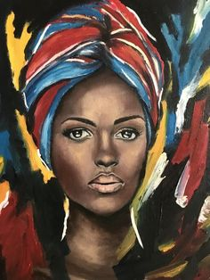 [New] The 10 Best Art Today (with Pictures) Black Girl Art, Black Women Art, Black Art, Art Girl, Afro Painting, Painting & Drawing, Afro Tattoo, African Art Paintings, Art Africain