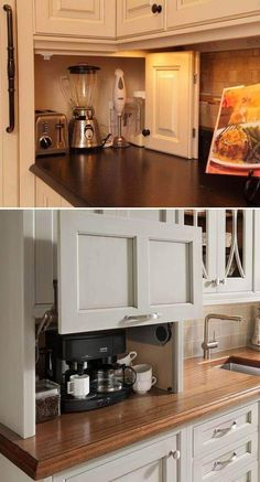 21 Awesome Ideas To Clutter-Free Kitchen Countertops Try these 21 clever and practical tips and enjoy the clutter-free space.Try these 21 clever and practical tips and enjoy the clutter-free space. Small Kitchen Appliances, Kitchen Countertops, Cool Kitchens, Floors Kitchen, Kitchen Small, Kitchen Pantries, Narrow Kitchen, Cheap Kitchen, Hidden Kitchen