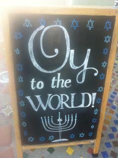 "Hanukkah ~ ""Oy to the world!"" :)"