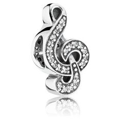 Sweet Music Treble Clef Charm #791381CZ $50.00
