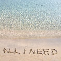 Beach Quote:  Yes, this is all I need!  #beachlife #beachliving