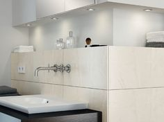 Recessed mounted cabinet down lights add the element of individualistic style in your bathroom. Ambient Lighting By Hafele