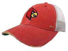 265d672f Louisville Cardinals Retro Brand Red Worn Mesh Vintage Adjust Snapback Hat  Cap