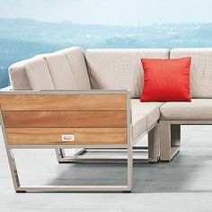 York Collection by Hygold features fold out tables built into the frame. Outdoor Sofa, Outdoor Living, Outdoor Furniture, Outdoor Decor, Sofas, Love Seat, Tables, Lounge, Patio