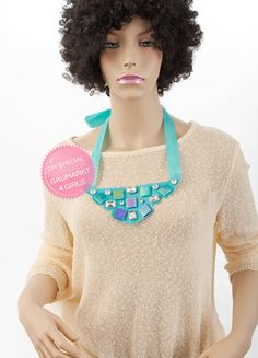 DIY Tutorial: Statement Necklace with Tesserae and Gems