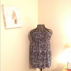 Reversible strapless dress or swimsuit cover-up Reversible zebra print strapless dress or swimsuit cover-up. Super comfortable and lightweight or summertime. Ocean pacific  Swim Coverups
