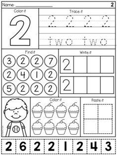 Numbers to 20 Worksheets - Number Work