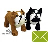 British and French Bulldog stuffed animal toy pattern-Pauline McArthur