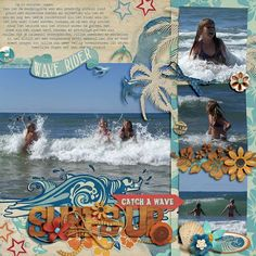 Oscraps :: Shop by Category :: Digital Scrapbook Kits :: Surf Shack