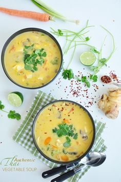 Thai Vegetable Soup Authentic Thai Vegetable Soup - loaded with healthy vegetables and tastes super Thai! Easy, fancy and affordable!Authentic Thai Vegetable Soup - loaded with healthy vegetables and tastes super Thai! Easy, fancy and affordable! Thai Vegetable Soup, Vegetable Soup Recipes, Vegetarian Recipes, Cooking Recipes, Healthy Recipes, Thai Soup, Veggie Soup, Clean Eating, Healthy Eating