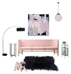 """""""Pug Pink"""" by suzsuzz ❤ liked on Polyvore featuring interior, interiors, interior design, home, home decor, interior decorating and &Tradition"""