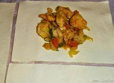 Kurczak w kopertach z ciasta francuskiego - przepis ze Smaker.pl Pineapple, Food And Drink, Fruit, Pine Apple