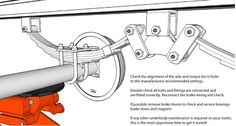 Check the alignment of the axle and torque the U bolts: