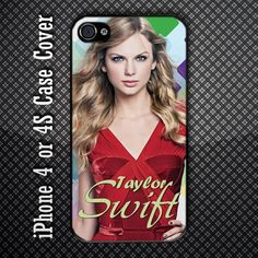 Beautiful Taylor Swift American Pop Country Singer Custom iPhone 4 or iPhone 4S Case