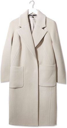 Womens cream textured melton coat by boutique from Topshop - £250 at ClothingByColour.com
