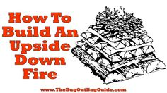 Add upside down fire building to your bug out and survival skills! This tactic allows you to build a self-feeding fire that makes a lot of coals and heat. Homestead Survival, Wilderness Survival, Camping Survival, Outdoor Survival, Survival Prepping, Survival Skills, Survival Instinct, How To Make Fire, Doomsday Prepping