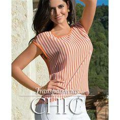 Blusa-en-chifon-estampado-rayas-naranja-tania-20150430232752.jpg (600×600)