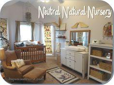 Neutral Natural Nursery. DIY decor. Baby. Elegant. Earthy.