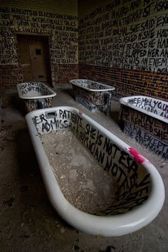 I once saw a special about old insane asylums and how the patients were bathed...CRAZY!