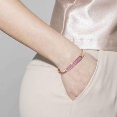 Bracciale estensibile GLITTER in oro rosa - Nomination