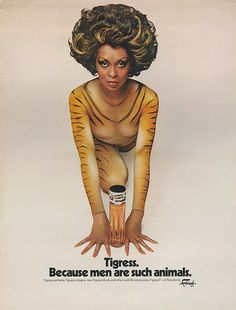 Tigress campaign with performer Lola Falana. Retro Makeup, Vintage Makeup, Vintage Beauty, Vintage Fashion, Vintage Advertisements, Vintage Ads, Vintage Posters, Women In History, Black History