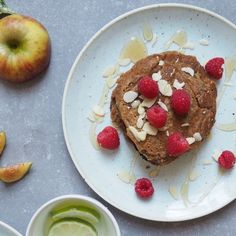 Cinnamon spiced pancakes with maple syrup - Madeleine Shaw