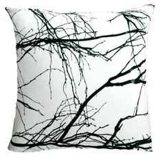 Branches Cushion Slip – Black & White from Love Milo - (Save Scatter Cushions, Throw Pillows, South African Design, Love Milo, Textile Patterns, Textiles, Decorative Accessories, Graphic Art, Tapestry