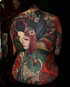 """4,945 Likes, 28 Comments - Japanese Ink (@japanese.ink) on Instagram: """"Japanese back tattoo by @gogueart. #japaneseink #japanesetattoo #i #tebori #colortattoo…"""""""