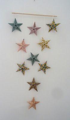 Origami Events: Tuto mobile étoiles en origami