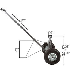 """Easily move your trailer with the Apex Boat Trailer Dolly. Height adjustable from 15-3/8"""" to 24-3/8"""". 600 lb tongue weight capacity, 3,500 lb trailer capacity."""
