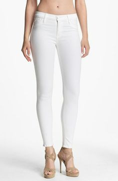 Hudson Jeans 'Nico' Skinny Stretch Jeans (White) | Nordstrom.  Yay!  Spring/Summer colors are here!