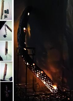 Create your own Cacti Lamp with mini lights and the skeleton of an ocotillo cactus wood. Cactus Lamp, Cactus Light, Cactus Craft, Cactus Decor, Skeleton Decorations, Desert Art, Wood Art, Wind Chimes, Outdoor Gardens