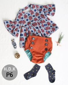 kids sewing pattern pdf Retro Baby Toddler by hellodearkids