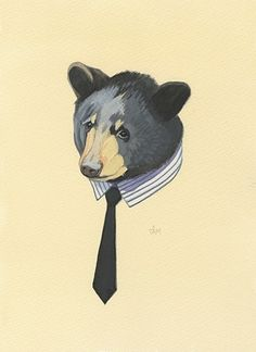 This bear is classier than you. Well, most bears are classier than you, but this one especially.