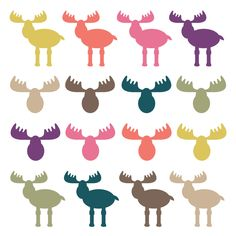INSTANT DOWNLOAD // Moose Clipart // Moose Heads // Woodland Clipart // Animal ClipArt // Antler Clip Art December 06, 2013 at 12:22PM